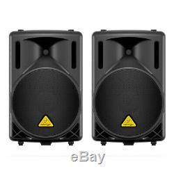 2x Behringer B212d Actif 550w 2 Way Pa 12 Pa Président De Son Système Dj Disco