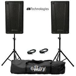2x Db Technologies B-hype 15 Active 15 Ensemble De Haut-parleurs De Sonorisation Dj Disco Live Stage