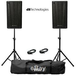 2x Db Technologies B-hype 8 Actif 8 Dj Disco En Direct Scène Pa Speaker Package