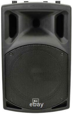 2x Dj 12 Inch Abs Haut-parleurs Pa Actifs Disco Party Sound System 800w