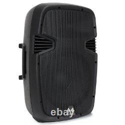 2x Ekho Rs12a 12 Enceintes Pa Actives Avec Stands Mobile Disco Dj Party 1200w