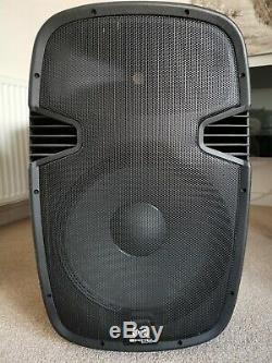 2x Ekho Rs15a 15 Pouces Haut-parleurs Actifs Dj Disco Pa Karaoke Party Set 1600w