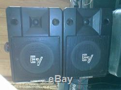 2x Ev S200 Refurbished Pa Disco Speakers Not Active Alimentés Par Behringer Inuke