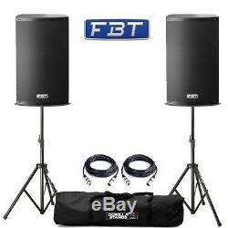 2x Fbt X-lite 10a 1000w Professional Dj Disco Club Haut-parleurs Active Pa Avec Mélangeur