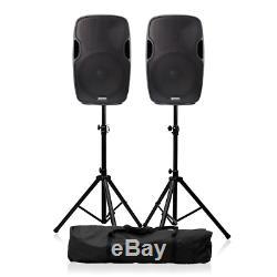 2x Gemini As-15blu Actif Haut-parleur 15 2000w Système Audio Haut-parleur Dj Disco
