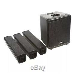 2x Gemini Wrx-843 Colonne Haut-parleur Actif Sound System Pa 250w Dj Disco