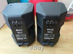 2x Haut-parleurs De Sonorisation À Scène Disco Dj Alto Ts310 Active 10 000 Wms Dj
