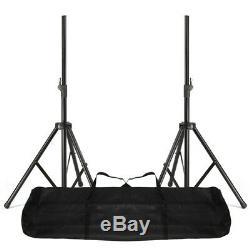 2x Haut-parleurs De Sonorisation Actifs Ekho Rs15a 15 Avec Supports, Disco Mobile, Soirée Dj 1600w