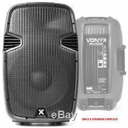 2x Haut-parleurs Dj Vonyx 15 Active Karaoke Party + Câbles Système De Sonorisation Disco 1600w