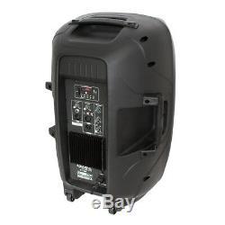 2x Ibiza Bt10a Active Speaker 10 500w Pa Sound System Bluetooth Dj Disco
