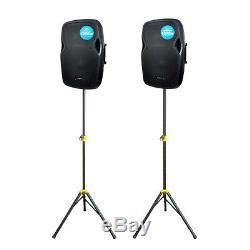 2x Kam Rz15a V3 1200w Active Enceintes De Sono Dj Disco Sound System