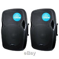2x Kam Rz15a V3 2400w 15 Powered Haut-parleur Actif Pa Avec Eq Dj Disco Club Band