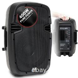 2x Pa Dj Disco Party Powered Small High Power Speakers 10 Woofer Portable 800w