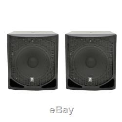 2x Qtx Ql15b Caisson De Basses Actif 15 Bin Dj Disco-parleurs Bass 1000w