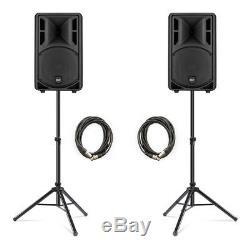 2x Rcf Art 310a Active 10 Mk4 Dj Disco Président 800w Band Inc. Stands Et Câbles