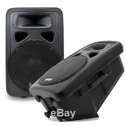 2x Skytec 12 Actifs Disco Haut-parleurs Câbles Dj Système Audio Moniteurs Wedge 1200w