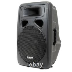 2x Skytec 12 Active Disco Haut-parleurs Câbles Dj Sound System Moniteurs Wedge 1200w
