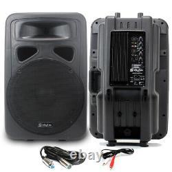 2x Skytec 15 Active Karaoke Party Dj Pa Haut-parleurs + Cables Disco System 1600w