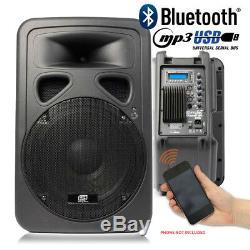 2x Skytec Sp1200abt 12 Dj Bluetooth Actif Powered Disco Haut-parleurs 1200w Max