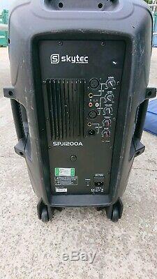 2x Skytec Spj-1200a 12 Haut-parleurs De Sonorisation Portables Amplifiés Actifs Dj Disco 600w