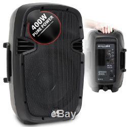 2x Sono Dj Disco Party Powered Petite Haute Puissance Haut-parleurs 10 Woofer 800w Portable