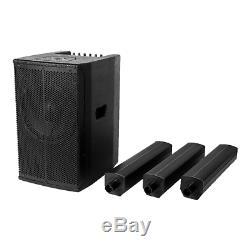 2x Système De Sonorisation Colonne Active Haut Parleur Ibiza Sound 400w