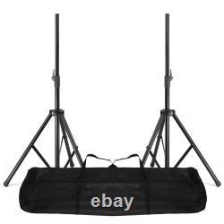 2x Vonyx Haut-parleurs Dj Actifs À Partir 1600w 15 Pa Disco Sound System Avec Stands