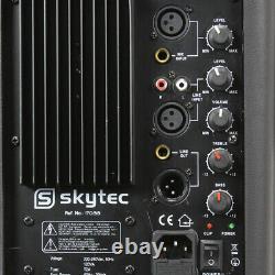 4x Skytec 12 Active Powered Karaoke Party Dj Pa Speakers Disco System 2400w
