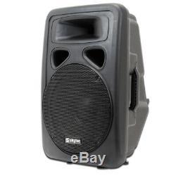 4x Skytec 12 Karaoke Party Dj Actif Powered Haut-parleurs Disco Système 2400w