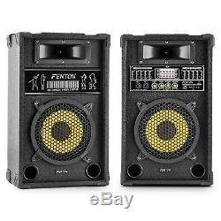 600w Paire Skytec 8 Pa Speaker Set Party Dj Dj Karaoke Disco Active