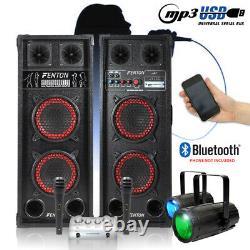 Accueil Karaoke Disco Party Package Haut-parleurs Avec Microphones, Mixeur Et Lumières Led