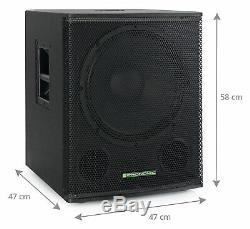 Actif Subwoofer 18 '' Dj Pa Disco Club Live Bar Bass Reflex Box Bin 700w