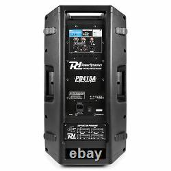 Active Dj Speaker Pa Professional Bi-amplified Disco System Bluetooth 15 1400w