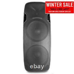 Active Dj Speaker Twin 15 Woofer Bluetooth Streaming Pa Disco 1200w Amplificateur