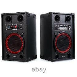 Active Haut-parleurs Pa Fort Surround Son Usb Sd Black 600 Watt Party Disco Dj Loud