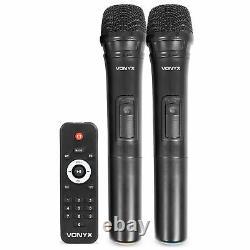 Active Pa Speaker Mobile Intégré À La Batterie Dj Disco + Microphones 700w Bluetooth