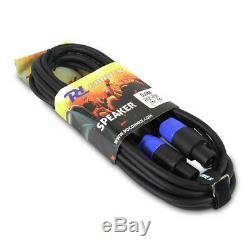 Active Powered 15 Mobile Dj Pa Disco Ensemble D'enceintes + Supports, Sacs Et Câbles 1600w
