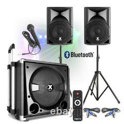 Active Powered Pa Speaker Sound System Pour Mobile Dj Disco Setup 15 Subwoofer