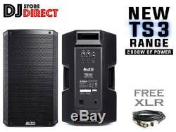 Alto Ts312 12 2000w Powered Actif Pa Dj Haut-parleur Loud Club Disco Party + 6m Xlr
