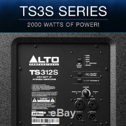 Alto Ts312s 12 2000w Powered Actif Pa Subwoofer Sub Bass Dj Disco Bin Président