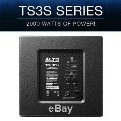 Alto Ts312s 12 2000w Subwoofer Ampli Actif Subwoofer Haut-parleur Bass Bass Haut-parleur Dj Disco