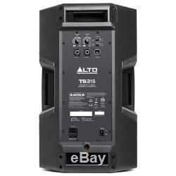 Alto Ts315 15 2000w Powered Pa Active Speaker Disco Dj Band + Couverture + Xlr Plomb