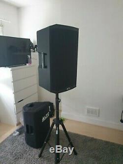 Alto Ts315 Actifs 15 Dj Disco Haut-parleurs Avec Des Couvertures, Supports Et Câbles Utilisés
