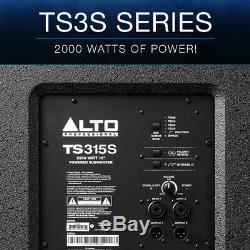 Alto Ts315s 15 2000w Subwoofer Subwoofer Subwoofer Haut-parleur Actif Subwoofer Haut-parleur Dj Disco