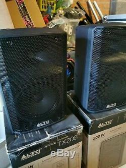 Alto Tx208 Active Powered 8 150w Rms Dj Disco Stage Band Pa Président (paire)