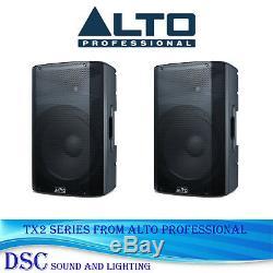 Alto Tx212 Enceintes Amplifiées Amplifiées Dj Disco Amplifiées Actives De 600 Watts (paire)
