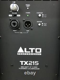 Alto Tx215 Active 15 Dj Disco Scène Pa Président (paire)