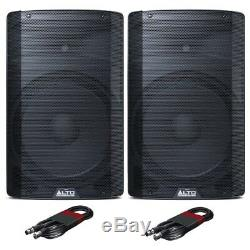 Alto Tx215 Active 15 Enceintes De Sono Dj Disco Stage (paire) Avec Câbles Xlr Gratuit