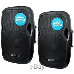 Audio Evolution Rz15a V3 15 1200w Two Way Active Dj Disco Pa Scène Président Paire