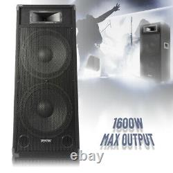 B-stock Double 15 Active Powered Pa Dj Speaker Large Disco Sound System 1600w